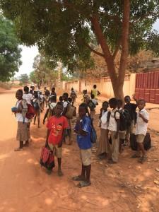 Sur le chemin de l'école
